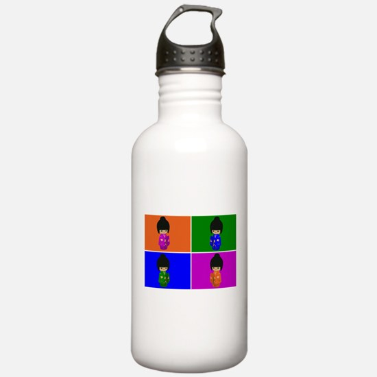 pop art Kawaii Kokeshi Dolls Water Bottle