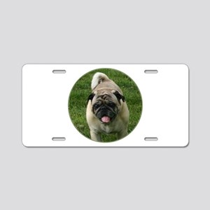 Fawn Pug Aluminum License Plate