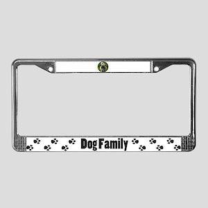 Fawn Pug License Plate Frame