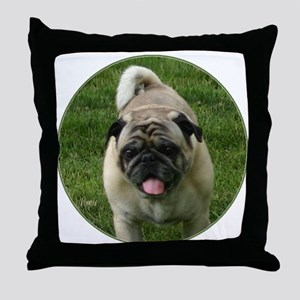 Fawn Pug Throw Pillow