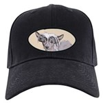 Chinese Crested (Hairless) Black Cap with Patch