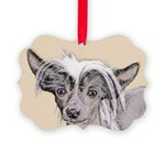 Chinese Crested (Hairless) Picture Ornament