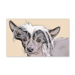Chinese Crested (Hairless) 20x12 Wall Decal