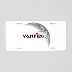 Vampire Moon Aluminum License Plate