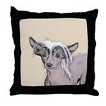 Chinese Crested (Hairless) Throw Pillow