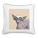 Chinese Crested (Hairless) Square Canvas Pillow