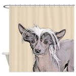 Chinese Crested (Hairless) Shower Curtain