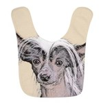 Chinese Crested (Hairless) Polyester Baby Bib