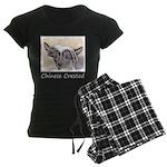 Chinese Crested (Hairless) Women's Dark Pajamas
