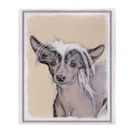 Chinese Crested (Hairless) Throw Blanket