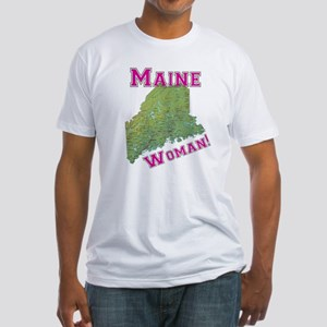 Maine Woman Fitted T-Shirt