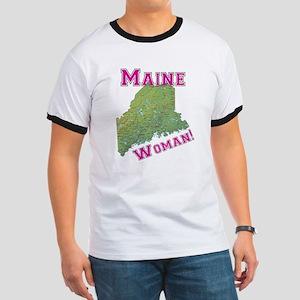 Maine Woman Ringer T