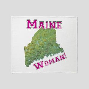 Maine Woman Throw Blanket