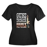 GUNS Women's Plus Size Scoop Neck Dark T-Shirt