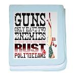 GUNS baby blanket