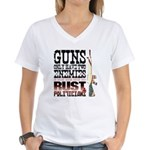 GUNS Women's V-Neck T-Shirt