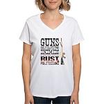 GUNS Women's V-Neck T-Shirt