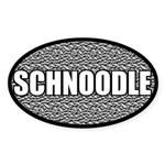 Silver Metallic Schnoodle Oval Sticker