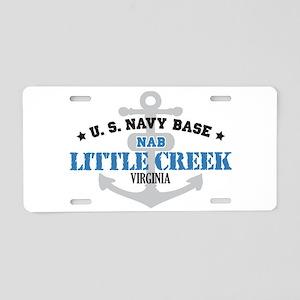 US Navy Little Creek Base Aluminum License Plate