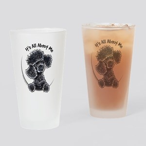 Black Poodle Lover Pint Glass