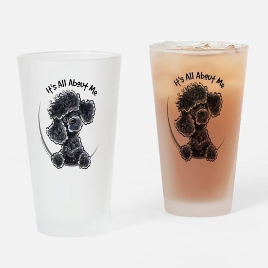 Black Poodle Lover Pint Glass