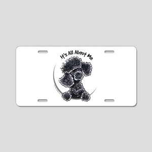 Black Poodle Lover Aluminum License Plate