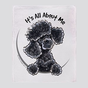Black Poodle Lover Throw Blanket