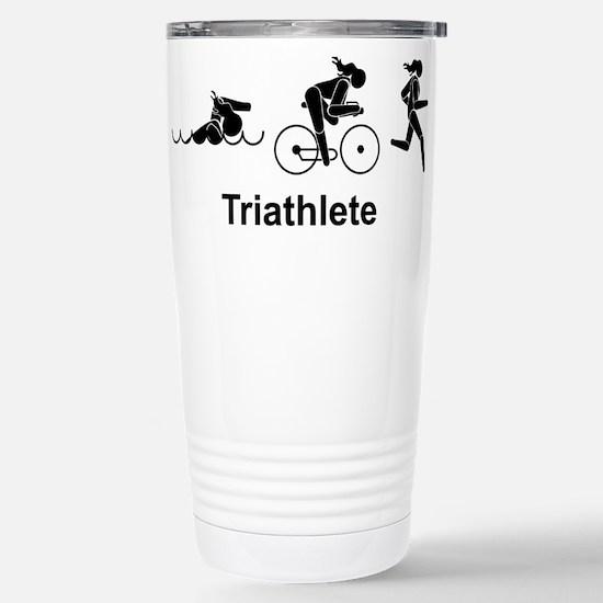 Lady Triathlete Stainless Steel Travel Mug