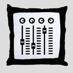 DJ Turntable Throw Pillow
