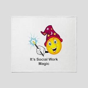 Social Work Magic Throw Blanket