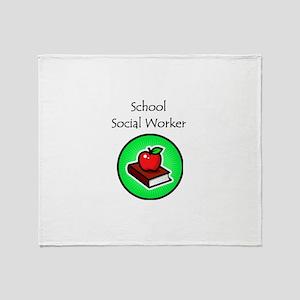 School Social Worker Throw Blanket