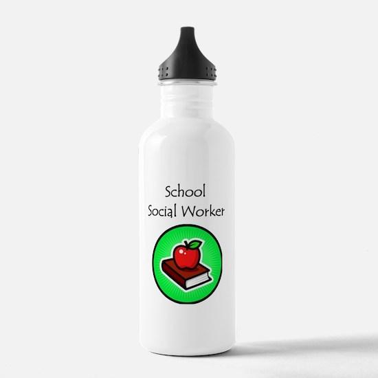 School Social Worker Water Bottle