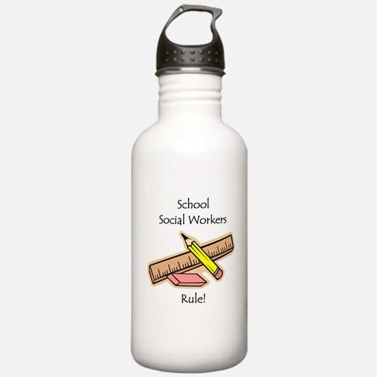 Social Workers Rule Water Bottle
