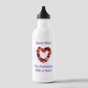Social Work Heart Stainless Water Bottle 1.0L