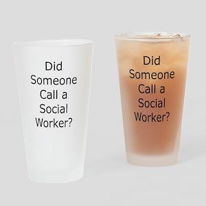 Call a Social Worker Pint Glass