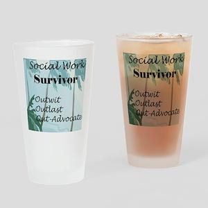 Social Work Survivor Pint Glass
