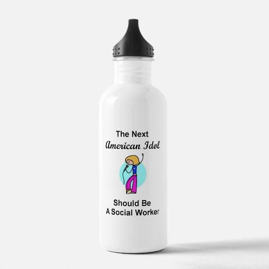 Social Worker Idol Water Bottle