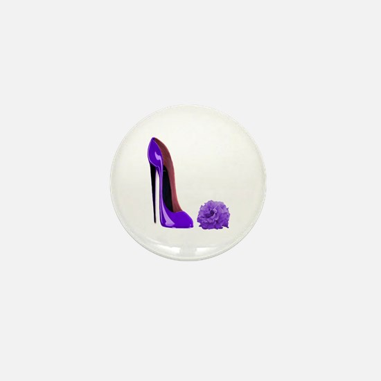 Lilac Stiletto Shoe and Rose Mini Button
