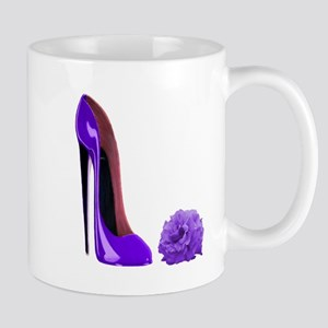 Lilac Stiletto Shoe and Rose Mug