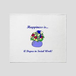 Social Work Degree Throw Blanket
