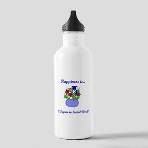 Social Work Degree Stainless Water Bottle 1.0L