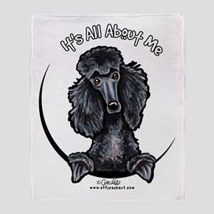 Black Standard Poodle IAAM Throw Blanket