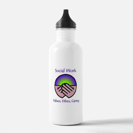 Values, Ethics, Caring Water Bottle