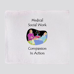 Medical Social Work Throw Blanket