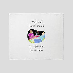 Medical Social Work Throw Blanket