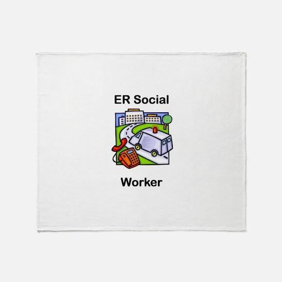 ER Social Worker Throw Blanket