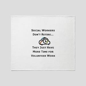 Social Work Retirement Throw Blanket