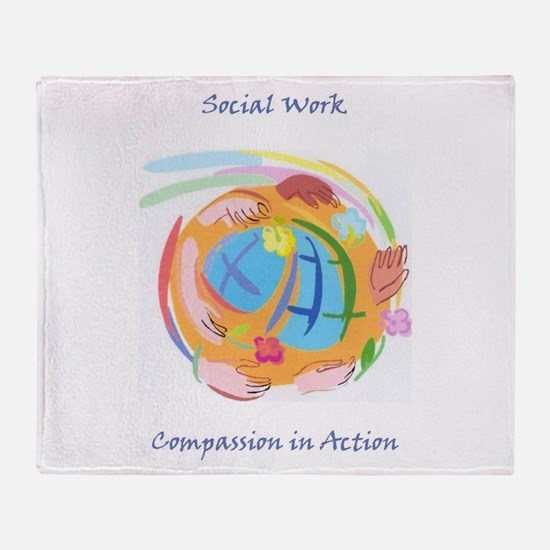 Compassion in Action Throw Blanket
