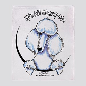 White Standard Poodle IAAM Throw Blanket