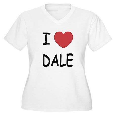 I heart dale Women's Plus Size V-Neck T-Shirt